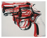 Gun, c. 1981-82 (black and red on white) Obra de arte por Andy Warhol