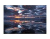 Icelandic Sunset Posters by Maciej Duczynski
