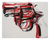 Gun, c. 1981-82 (black and red on white) Kunstdrucke von Andy Warhol