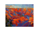 Grand Sunset (center) Print by Erin Hanson