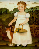 Girl with Cat Posters by Diane Ulmer Pedersen