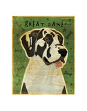 Great Dane (Harlequin, no crop) Posters by John W. Golden