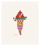 Ice Cream Dessert, c. 1959 (fancy red) Giclee Print by Andy Warhol
