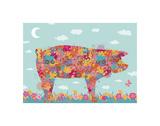 Hog Prints by Teofilo Olivieri