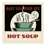 Hot Soup Prints by  Retro Series