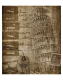 Italian Collage Print by Dawne Polis