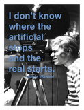 I don't know where the artificial stops and the real starts Prints by Andy Warhol/ Billy Name