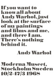 If you want to know all about Andy Warhol... Art par Andy Warhol/ John Melin