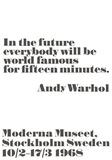 Andy Warhol/ John Melin - In the future... - Reprodüksiyon