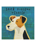 Jack Russell Terrier (square) Posters by John W. Golden