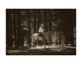 High Country Cowboy Print by Barry Hart