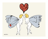 I Love You So, c. 1958 (angel) Giclee Print by Andy Warhol