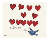 I Love You So, c. 1958 Giclee Print by Andy Warhol