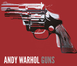 Guns, c. 1981-82 (white and black on red) Print by Andy Warhol