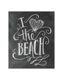 I Love The Beach Prints by LLC., Lily & Val