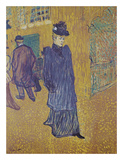 Jane Avril leaves the Moulin Rouge Posters by Henri de Toulouse Lautrec