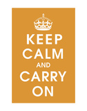 Keep Calm (orange) Print by  Vintage Reproduction