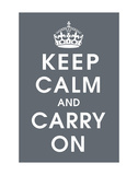Keep Calm (charcoal) Posters by  Vintage Reproduction