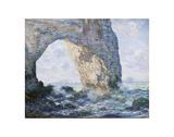 Claude Monet - La Manneporte (Etretat), 1883 - Reprodüksiyon