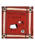 How to Draw a Sheep Posters by Brian Nash