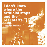I don't know where the artificial stops and the real starts (color square) Posters by Andy Warhol/ Billy Name