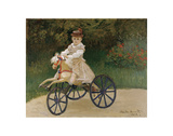 Jean Monet on his Hobby Horse, 1872 Art by Claude Monet