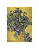 Irises in Vase Giclee Print by Vincent van Gogh