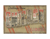 Greetings from Chicago Art by  Vintage Vacation