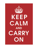 Keep Calm (Red) Posters