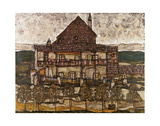 House with Shingle Roof (Old House II), 1915 Art by Egon Schiele