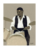 Jazz Drummer Prints by William Buffett
