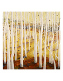 In A Yellow Wood Prints by Jean Cauthen