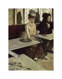 In the Cafe, 1873 Posters by Edgar Degas