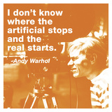 I don't know where the artificial stops and the real starts (color square) Posters av Andy Warhol/ Billy Name