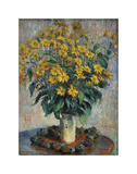 Jerusalem Artichoke Flowers, 1880 Print by Claude Monet