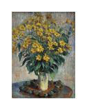 Jerusalem Artichoke Flowers, 1880 Print by Claude Monet