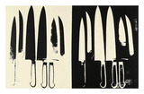 Knives, c. 1981-82 (cream and black) Print by Andy Warhol