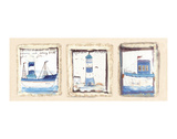 Lighthouse on the Rocks Prints by Jane Claire