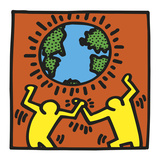 KH02 Giclee Print by Keith Haring