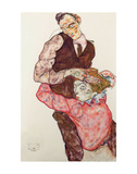Lovers Print by Egon Schiele