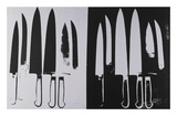 Knives, c. 1981-82 (silver and black) Posters by Andy Warhol