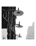 Lamps (B&W) Poster by Erin Clark