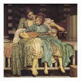 Music Lesson Posters by Frederic Leighton