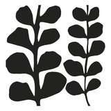Maidenhair (black on white) Lámina por Denise Duplock