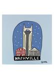 Nashville Snow Globe Posters by Brian Nash
