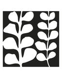 Maidenhair (white on black) Prints by Denise Duplock