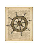 Nautical Series - Ship Wheel Prints by  Sparx Studio