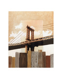 Manhattan Bridge & Fence Print by Mauro Baiocco