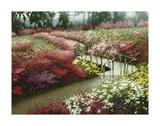 Monet's Flower Garden Poster by Zhen-Huan Lu