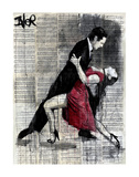 Midnight Tango Print by Loui Jover